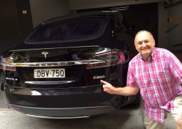 MTAI trainer Paul Tugwell tests the new Tesla S P90D